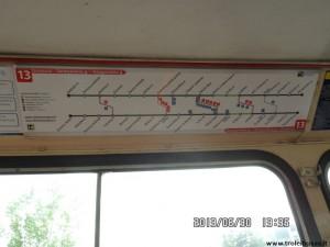 13-tojo maršruto lentelė
