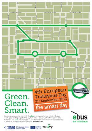 Logo - Europos troleibuso diena 2013