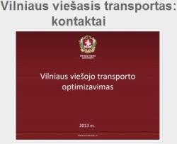 Vilniaus viešasis transportas - kontaktai