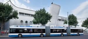 Troleibusas Hess lighTram3, talpinantis 200 keleivių (Gamintojo nuotr.)