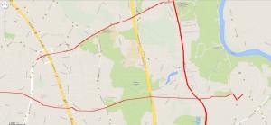 Naujų linijų žemėlapis