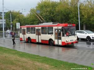 Velomeratono metu pakeisto 10 maršruto troleibusas