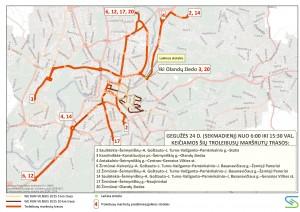 2015-05-24 Troleibusų schema bėgimo metu
