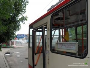 13 maršruto troleibusas Naugarduko žiede