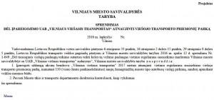 Vilniaus miesto savivaldybės tarybos sprendimo projektas