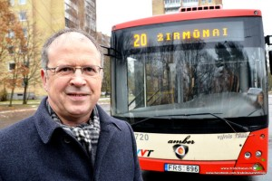 "Vidmantas Striška, ""Vilniaus troleibusai"" direktorius 2009 – 2011 m."